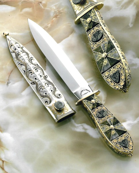 California Gold Quartz Dagger